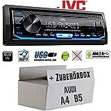 Autoradio Radio JVC KD-X151 | MP3 | USB | Android 4x50Watt - Einbauzubehör - Einbauset für Audi A4 B5 - JUST SOUND best choice for caraudio