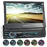 XOMAX XM-V746 Autoradio mit Mirrorlink, Bluetooth Freisprecheinrichtung, 7 Zoll / 18cm Touchscreen Bildschirm, RDS, SD, USB, AUX, 1 DIN