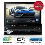 Autoradio Android AMG-1201 | 1DIN | GPS Navigation (Europa-Karten) | DAB+ | DVD-Player | Touchscreen 7 Zoll | Quad-Core CPU | 16GB integr. | WLAN |...