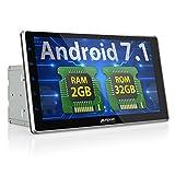PUMPKIN Android 7.1 32GB + 2GB Autoradio Multimedia Player mit GPS Navi 10,1 Zoll 25,5cm Bildschirm Unterstützt Bluetooth WLAN DAB+ USB MicroSD...