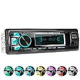 XOMAX XM-R265 Autoradio mit Bluetooth Freisprecheinrichtung I Smartphone Ladefunktion über 2. USB Anschluss I Carbon Optik I 7 LED Farben einstellbar...
