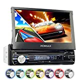 XOMAX XM-VRSUN741BT Autoradio / Moniceiver / Naviceiver mit GPS Navigation + Navi Software inkl. Europa Karten (38 Länder) + Bluetooth...