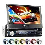 XOMAX XM-VRSUN741BT Autoradio mit GPS Navigation I Bluetooth I 7' / 18cm Touchscreen I USB, SD, AUX I Anschlüsse für Subwoofer, Rückfahrkamera &...