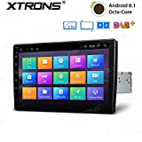 XTRONS 10,1' Touch Screen Single Din Autoradio mit Android 8.1 Octa Core Lenkradsteuer 4G Bluetooth5.0 1Din 2GB RAM 32GB ROM DAB & OBD2 TPMS Funktion...