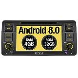 Pumpkin Android 8.0 Autoradio Moniceiver für BMW 3er E46 mit Navi Unterstützt Bluetooth DAB + USB CD DVD WLAN 4G Android Auto MicroSD 1 Din 7 Zoll...