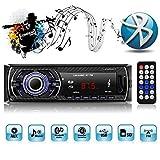 1 Din Autoradio,Autoradio mit Bluetooth Freisprecheinrichtung,mit USB/SD/AUX für Samsung/iPhone/Android,Freisprechfunktion und integriertes Mikrofon...