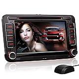XOMAX XM-04G Autoradio passend für VW Skoda SEAT mit GPS Navigation, Navi Software, Bluetooth Freisprecheinrichtung, 18 cm / 7 Zoll Touchscreen...