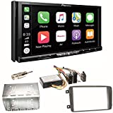 Pioneer AVH-Z9100DAB CarPlay Android Auto Digitalradio USB CD DVD Autoradio Touchscreen Moniceiver Navi Einbauset für Mercedes C-Klasse W203 CLK W208...