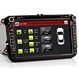 iFreGo 8' AUTORADIO DVD 8 Zoll GPS Für VW Golf,Passat,Tiguan,Polo,Jetta,Skoda Fabia Octavia,Yeti, Seat Leon,Touran,Candy, Sharan,Amarok, mit 3G WiFi...