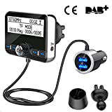 DAB+ Autoradio Empfänger Transmitter, Wonsidary Auto DAB Digital Radio Adapter mit FM Transmitter Bluetooth Freisprecheinrichtung Bluetooth Audio...