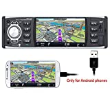PolarLander Autoradio Bluetooth, Autoradio mit Freisprecheinrichtung, Digital Media-Receiver, Bildschirm Spiegelung für Android Phone/RDS/FM/USB/SD /...