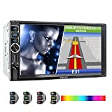 XOMAX XM-2VN716 Autoradio mit Mirrorlink, GPS Navigation, Navi Software, Bluetooth Freisprecheinrichtung, 7 Zoll / 18cm Touchscreen Bildschirm, SD,...