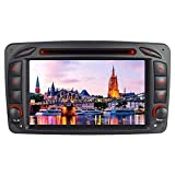HTparts 7' HD Touch Screen Autoradio Windows CE DVD-Player Autostereo GPS Navigation DAB RDS Bluetooth Auto Naviceiver Für Mercedes-Benz W168 W203...