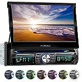 XOMAX XM-DTSB931 Autoradio mit 18cm / 7' HD Touchscreen I Bluetooth I DVD, CD, USB, SD, AUX I RDS I 7 LED Beleuchtungsfarben I Anschlüsse für...