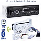 HSRpro Autoradio mit Bluetooth, Freisprecheinrichtung für Telefonieren, FM Radio, MP3 Player, SD Karte & USB Stick Player