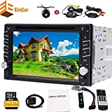 Universal-Doppel-DIN 6.2 Zoll Touch Screen 2 DIN DVD-Spielern Autoradio Radio Auto GPS-Navigation 2din Auto-PC + Wireless hintere viwe Kamera