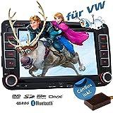 2DIN Autoradio CREATONE VW7000 mit GPS Navigation (Europa), Bluetooth, 7 Zoll (18cm) Touchscreen, DVD-Player und USB/SD-Funktion für Golf 5, Golf 6,...