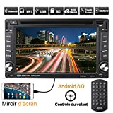Autoradio Bluetooth GPS, CATUO 6'' 1080P Android 6.0 Auto CD Tuner DVD VCD Player/Auto Mp5 Player/Car Radio/Auto Multimedia Player, unterstützt...
