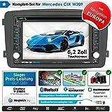 2DIN Autoradio CREATONE V-336DG für Mercedes CLK W209 (04/2004-2006) mit GPS Navigation (Europa), Bluetooth, Touchscreen, DVD-Player und...