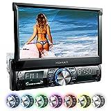XOMAX XM-VRSU742BT Autoradio mit 18 cm / 7' Touchscreen Bildschirm I Bluetooth I USB SD AUX I RDS Radio Tuner I Anschlüsse für Rückfahrkamera,...