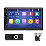 Autoradio Bluetooth - Doppel Din Autoradio mit 7'' Touchscreen Unterstützung Freisprecheinrichtung,MirrorLink,Multimedia MP5 Player mit...