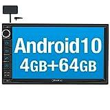 Vanku Android 10 Autoradio mit Navi 64GB+4GB Eingebautes DAB + Modul Unterstützt Qualcomm Bluetooth 5.0 WiFi 4G Android Auto Doppel Din 7 Zoll...