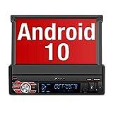 PUMPKIN Android 10 Autoradio Moniceiver mit Navi Unterstützt Bluetooth DAB+ DSP Android Auto WiFi 4G USB MicroSD 1 Din 7 Zoll Universal