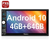 Vanku Android 10 Autoradio Radio mit Navi 4GB+ 64GB PX6 Unterstützt Bluetooth 5.0 DAB + WiFi 4G Android Auto USB MicroSD Doppel Din 7 Zoll Bildschirm
