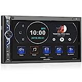 7 Zoll Doppel-DIN Digital Media Autoradio-Empfänger, aboutBit Bluetooth 5.0 Touchscreen Autoradio MP5-Player, unterstützt Rück- / Frontkamera,...