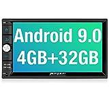 PUMPKIN Android 9.0 Autoradio mit Navi 4GB / 8 Core Unterstützt Bluetooth Tethering DAB + Android Auto WiFi 4G USB MicroSD 7 Zoll Bildschirm