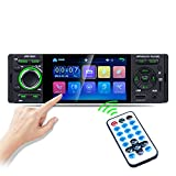 1 Din Autoradio MP5 Stereo Player, 4,1'Touchscreen, USB, Unterstützung 1080P Video, Mirror Link, Bluetooth, AUX, FM