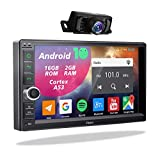 2din Android Autoradio mit Rückfahrkamera,Doppel Din Display Radio mit Navi Bluetooth Freisprecheinrichtung 2 Din Moniceiver 7 Zoll Bildschirm GPS...