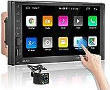 Autoradio Bluetooth - Android Doppel Din Autoradio mit Navi,MP5 Player 7'' Touchscreen Unterstützt Geteilter...