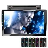 XOMAX XM-2D1006 Autoradio mit 10,1 Zoll / 25,7cm Touchscreen Bildschirm, DVD,CD, Mirrorlink, Bluetooth Freisprecheinrichtung, LED Multicolour, RDS,...