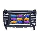 BOOYES für Mercedes Benz CLK Klasse W209 CLK200 C-Klasse W203 C180 CLC Klasse Android 10.0 Autoradio Stereo-GPS-System 7'...