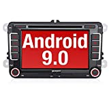 PUMPKIN Android 9.0 Autoradio für VW Radio mit Navi Unterstützt Bluetooth, DAB + CD DVD Android Auto WiFi 4G USB MicroSD 7 Zoll Bildschirm