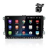OiLiehu Android Auto Radio Mit Navi FüR Vw 9 Zoll Touchscreen Autoradio UnterstüTzt Lenkradsteuerung Bluetooth GPS USB Duales System Mirror Link...