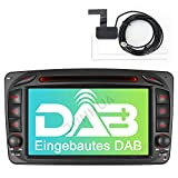Built-in DAB+ Autolink 7' Autoradio DVD GPS Navigation Für Mercedes Benz C Klasse W639 W168 W203 CLK W209 W463 Vito Unterstützt USB SD Bluetooth 5.0...