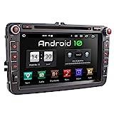 XOMAX XM-11GA Autoradio passend für VW, SEAT, Skoda mit Android 10 I 8 Zoll / 20,3 cm Touchscreen I GPS Navigation I DVD, CD, USB, SD I Support: WiFi...