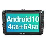 PUMPKIN Android 10 Autoradio für VW Radio mit Navi 4GB+64GB PX6 Unterstützt Bluetooth DAB + Android Auto CD DVD WiFi 4G USB MicroSD 8 Zoll IPS...