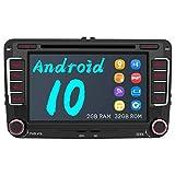 AWESAFE Android 10 Autoradio für VW Skoda Seat, 2 DIN Radio mit Navi 7 Zoll Touchscreen CD DVD Player Bluetooth MirrorLink WLAN DAB+ unterstützung