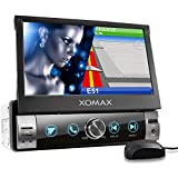 XOMAX XM-VN764 Autoradio mit Mirrorlink, GPS Navigation, Navi Software, Bluetooth Freisprecheinrichtung, 7 Zoll / 18cm Touchscreen Bildschirm, RDS,...