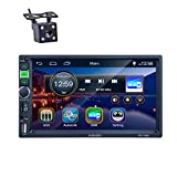 Autoradio 2 din, REAKOSOUND-Radio 7-Zoll-Touchscreen Bluetooth, Autoradio-Unterstützung Radio Dab + / FM/USB/SD/AUX IN/SWC mit Rückfahrkamera und...