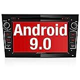 PUMPKIN Android 9.0 Autoradio für Opel Radio mit Navi / DVD Player Unterstützt Bluetooth DAB+ WiFi 4G USB CD Android Auto MicroSD 7 Zoll Bildschrim...