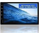 Tristan Auron BT2D7018A Android 10.0 Autoradio mit Navi - 7' Touchscreen GPS Bluetooth Freisprecheinrichtung I 32GB ROM I MirrorLink WiFi USB SD I...