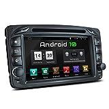 XOMAX XM-07ZA Autoradio mit Android 10 passend für Mercedes Viano CLK Vito, 4Core, GPS Navigation, DVD, CD I Support: WiFi, 4G, DAB+, OBD2 I...