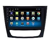 hizpo 9 Zoll Touchscreen Android 10 Autoradio mit Bluetooth Navi Kompatibel mit Benz E W211/CLS W219/G W463 1+16GB Dab Autoradio Adapter WiFi 4G...
