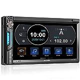2 DIN Autoradio mit Mirrorlink für iOS/Android, Bluetooth MP5 Multimedia Car Player, 7 Zoll Touchscreen Bildschirm, AM/FM, Front- / Rückfahrkamera,...
