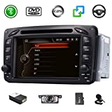 Autoradio für Mercedes-Benz C-Klasse W203/CLK-W209/C209/Viano&Vito W639/A-W168 Navi mit DVD-Player GPS Navigation Touchscreen Lenkradsteuerung...