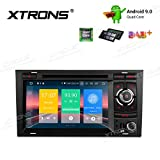 XTRONS 7' Autoradio mit Touch Screen Android 9.0 Quad Core DVD Player Autostereo unterstützt 4G WiFi Bluetooth5.0 Plug&Play Auto Musik Streaming 2GB...